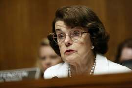 FILE - In this July 12, 2017, file photo, Sen. Dianne Feinstein, D-Calif., ranking member on the Senate Judiciary Committee, speaks on Capitol Hill in Washington. Feinstein is giving her strongest hints so far that she�s going to seek a fifth full Senate term in 2018. She told NBC�s ``Meet the Press�� that ``I�m ready for a good fight. I�ve got things to fight for.�� (AP Photo/Pablo Martinez Monsivais, File)