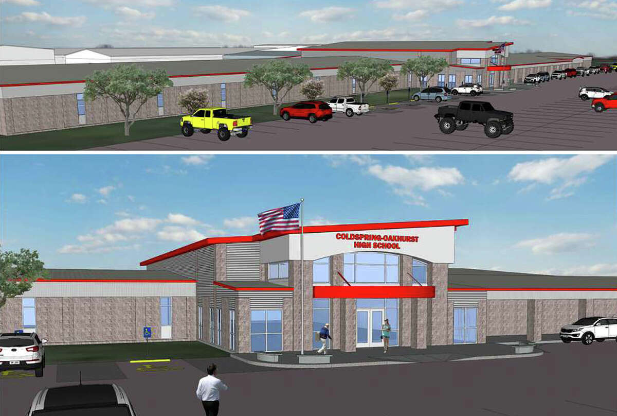 This artist's rendering shows the proposed improvements to the Coldspring-Oakhurst High School campus.