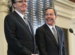 Lt. Gov. Dan Patrick, left, and Speaker Joe Straus should form a special committee to examine recent threats to public records access.