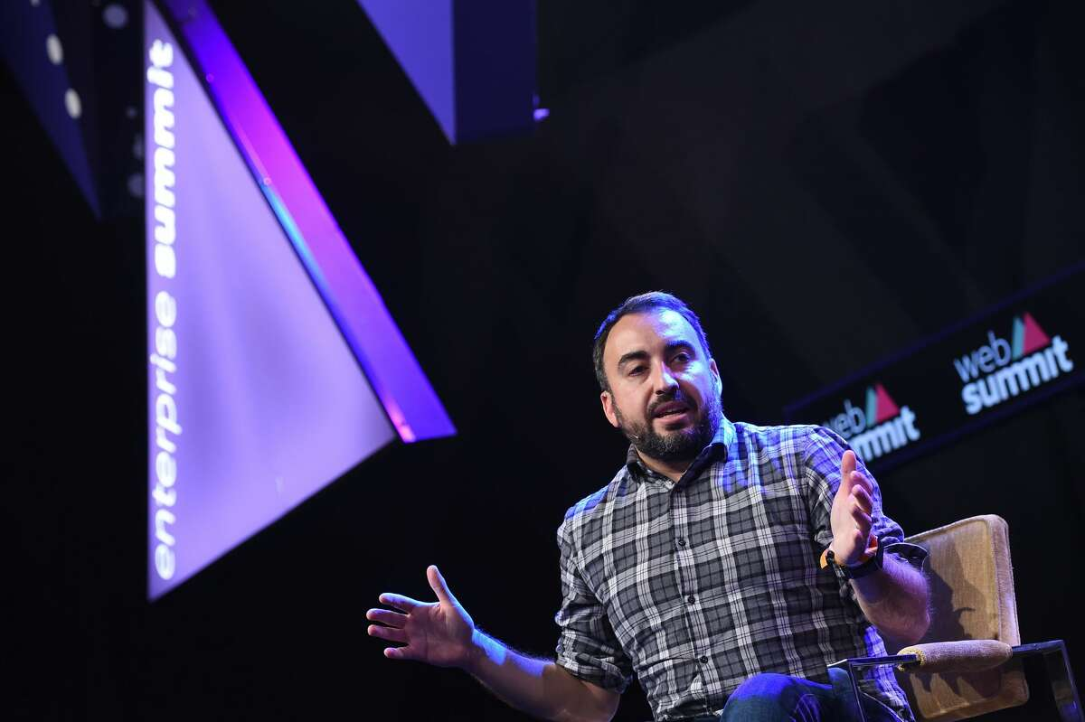 Alex Stamos, CSO, Facebook, on the Enterprise Stage during Day 2 of the 2015 Web Summit in the RDS, Dublin, Ireland.