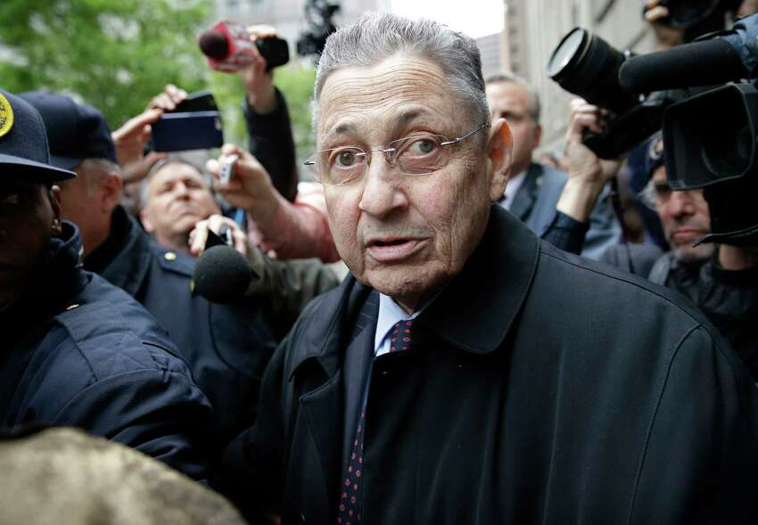 FILE - In this May 3, 2016, file photo, former Assembly Speaker Sheldon Silver leaves court in New York. New York voters will in November 2017 decide whether to allow judges to strip the pensions of corrupt officials. Calls to crack down on corruption in New York picked up momentum after both Silver and Republican Senate Leader Dean Skelos were convicted of corruption, though the convictions have since been reversed because of a U.S. Supreme Court verdict. The pensions they had coming for their years of service ?- nearly $100,000 a year for Skelos and $85,000 to $98,000 a year for Silver ?- were never imperiled. (AP Photo/Seth Wenig, File) ORG XMIT: NYAG708