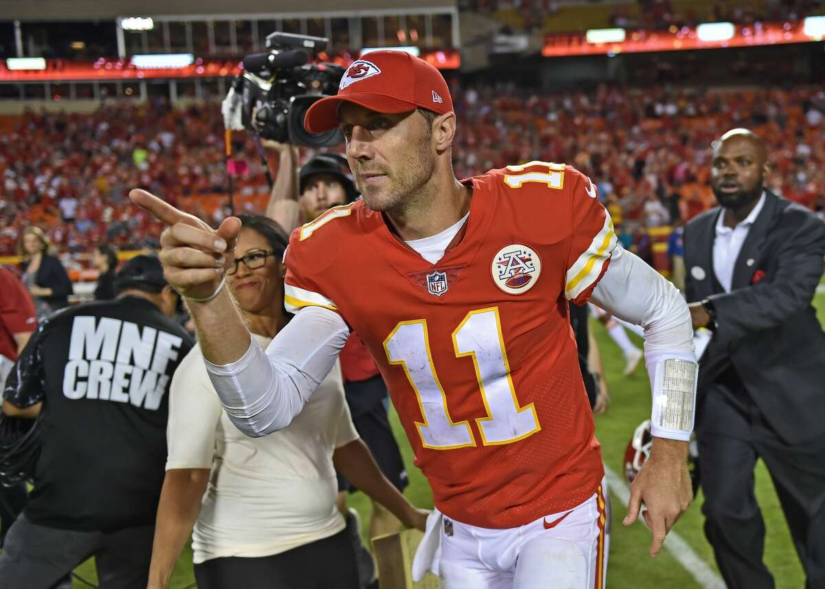 Don't you dare call him a game manager. Smith threw for 324 yards with three touchdowns in the Chiefs win over the Texans on Sunday night, to improve to 5-0 on the year.