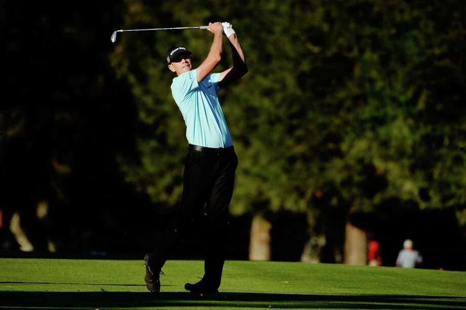 NAPA, CA - OCTOBER 08:  Brendan Steele plays his shot on the 18th hole during the final round of the Safeway Open at the North Course of the Silverado Resort and Spa on October 8, 2017 in Napa, California.  (Photo by Robert Laberge/Getty Images) ORG XMIT: 775054933 Photo: Robert Laberge / 2017 Getty Images