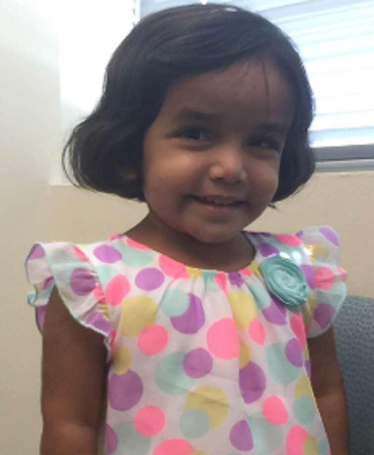 The 3-year-old girl Sherin Mathews went missing Saturday after he father allegedly sent her outside alone as punishment for not finishing her milk. Now her father has been arrested. Photo: Richardson Police Department