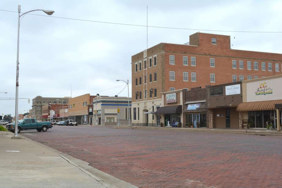 Broadway, one of the two oldest streets in Plainview's downtown district.