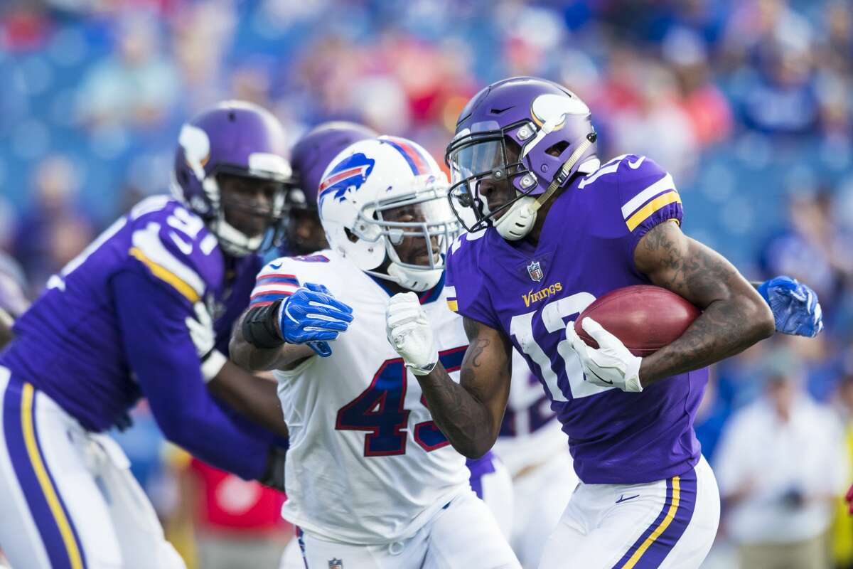 The Texans have scheduled a workout with ex-Bills cornerback Marcus Sayles (45).