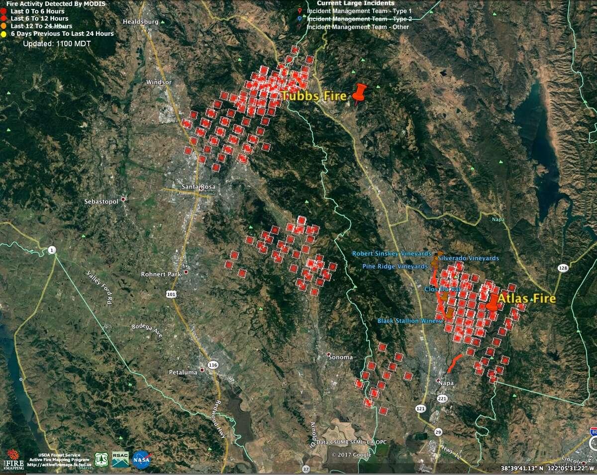 Napa Valley wildfires