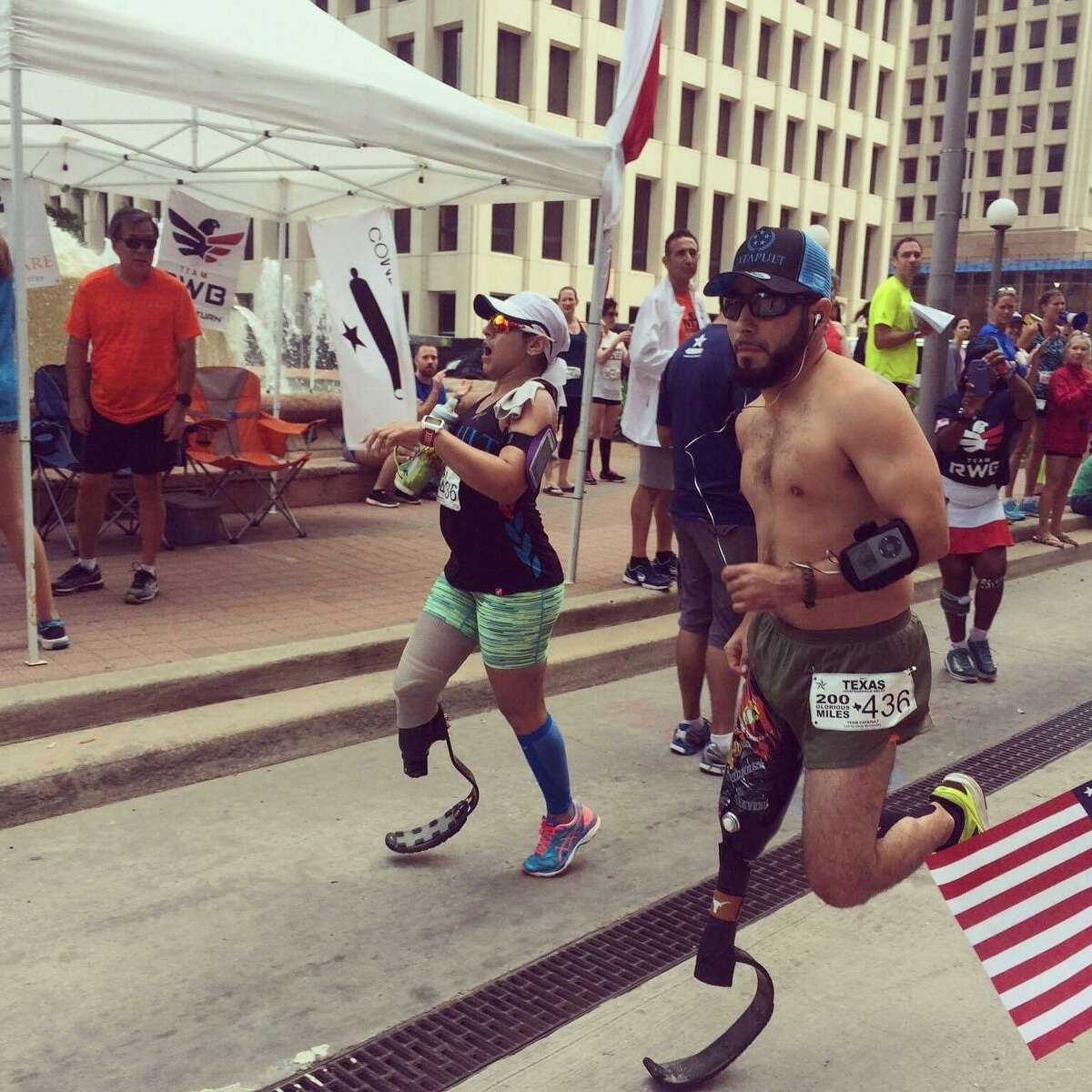 Eric Morante particpates in the Texas Independence Relay, a 200-mile course from Gonzales to Houston.
