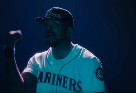 "Rapper Method Man sports a Mariners jersey and hat in the new video ""People Say"" from Wu-Tang Clan. Photo: Screenshot/YouTube"