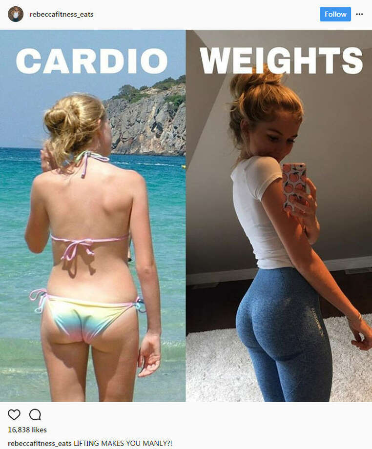 Women across Instagram are pointing out their success stories in working with weights to tone their bodies in an effort to prove that weights aren't going to bulk a woman up.Source: Instagram Photo: Instagram