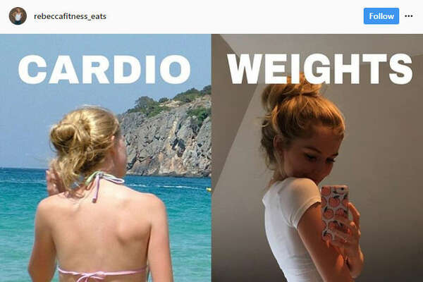 Women across Instagram are pointing out their success stories in working with weights to tone their bodies in an effort to prove that weights aren't going to bulk a woman up.Source: Instagram