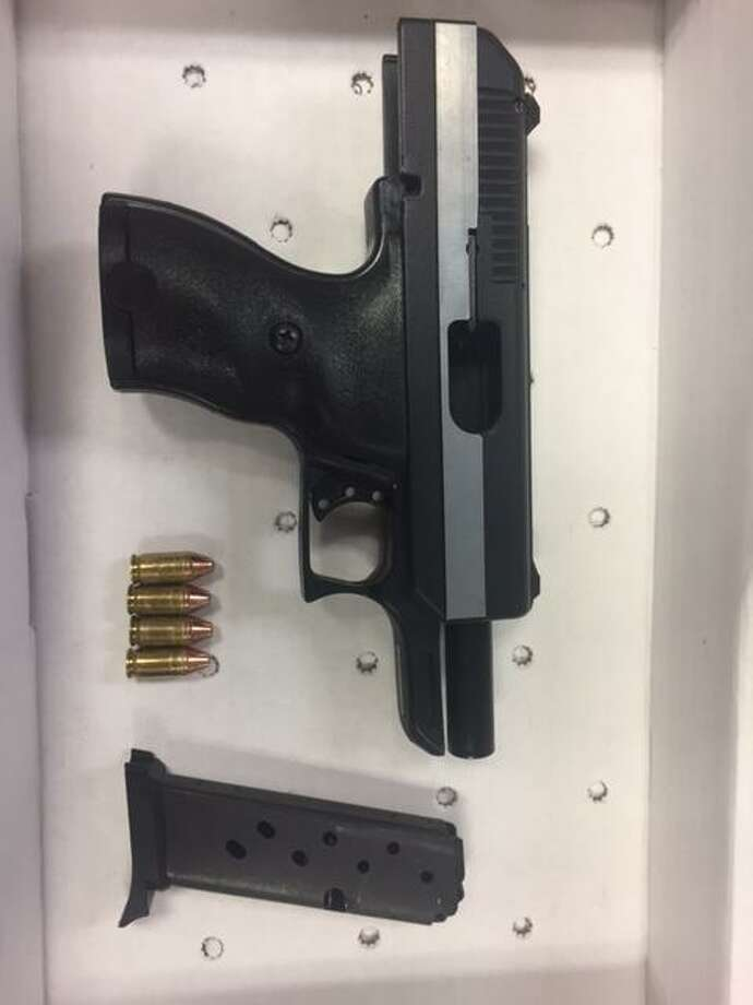 The loaded gun taken off a 17-year-old boy in Stamford's South End on Friday night. Photo: Stamford Police / Contributed