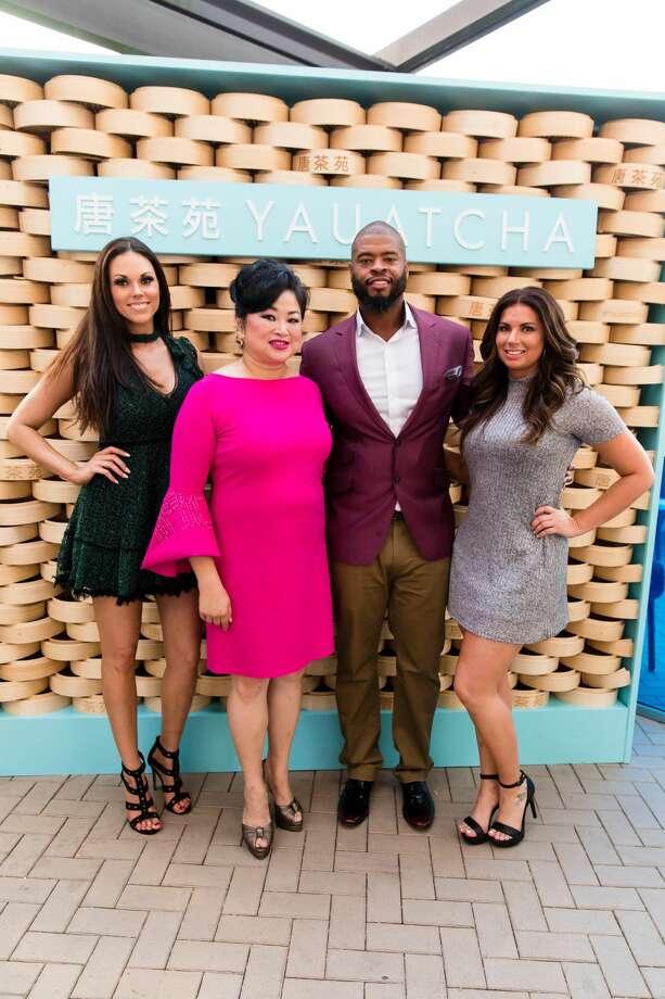 SMITTY TACKLES HARVEY: Amanda Abiassi, Gigi Huang, Wade Smith, Savanna Gray Photo: Hung L. Truong