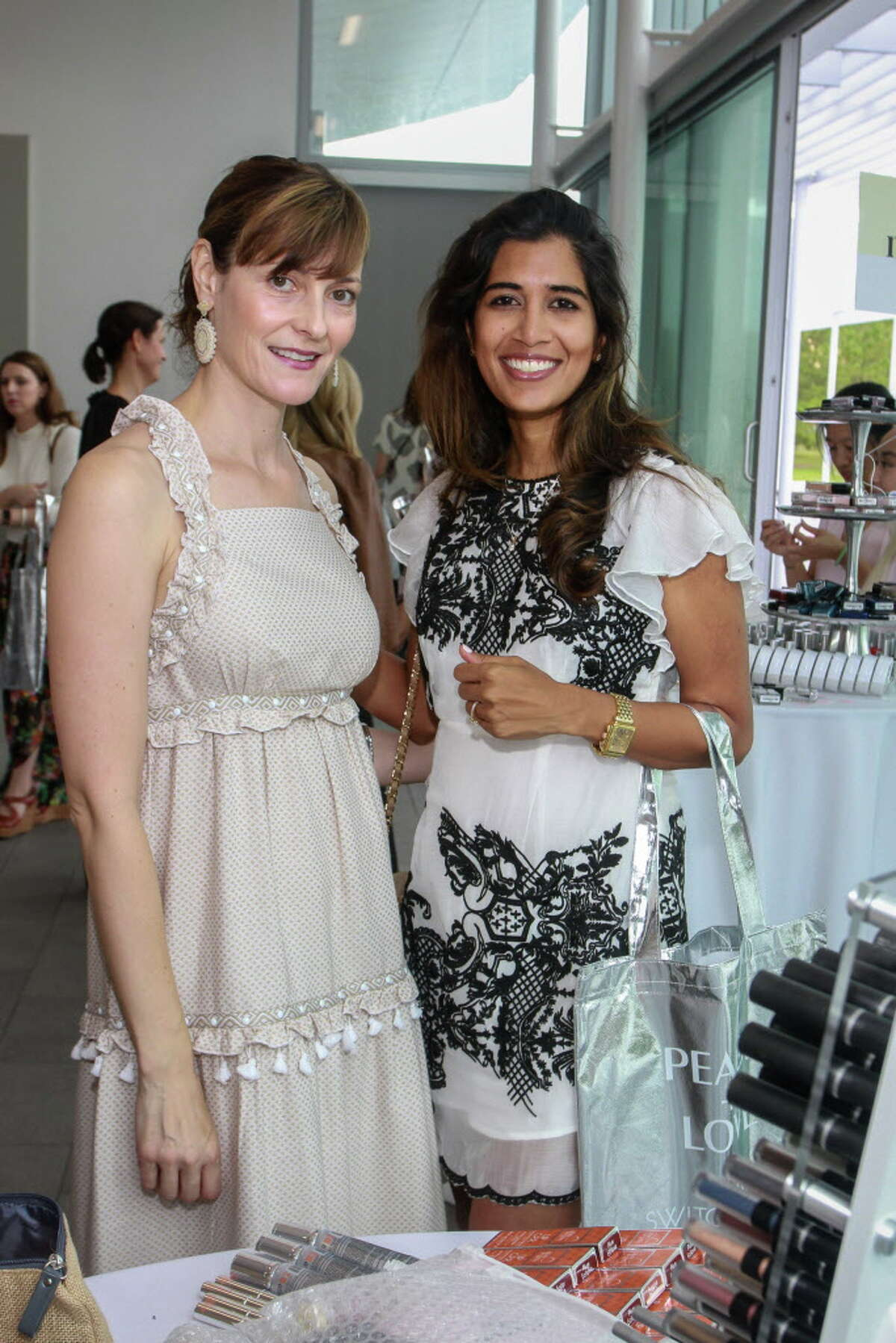 Vicky Wight, left, and Divya Brown at the debut of