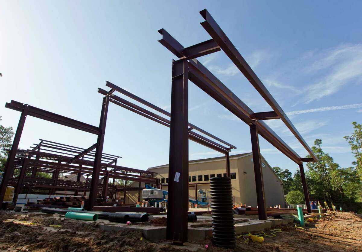 Construction continues on a new 21,000 square-foot childrenÂ?'s education facility at Christ Church United Methodist, Thursday, Oct. 5, 2017, in The Woodlands. The building is expected to be complete in April 2018.