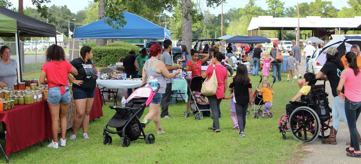 Local citizens enjoy shopping at different vendor booths at the City of Cleveland's Fall Festival, held on Oct. 7 at Stancil Expo Park.