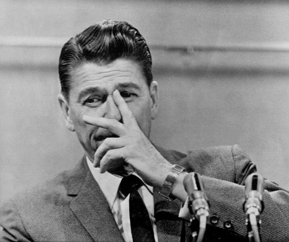 Gov. Ronald Reagan denounced antiwar protesters in 1967. Photo: ASSOCIATED PRESS, SFC