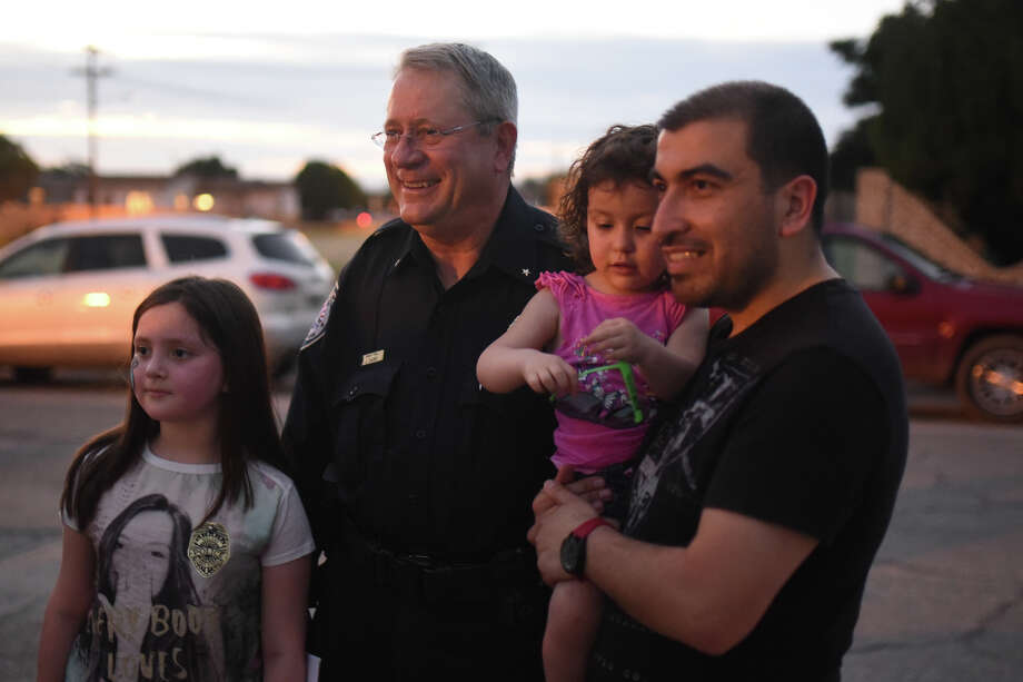 Midland Police Department Deputy Chief Jeff Darr  attends a National Night Out party on Oct. 2. Darr is one of three finalists for chief to replace Price Robinson, who retired in August. Photo: MRT File / © 2017 Midland Reporter-Telegram. All Rights Reserved.