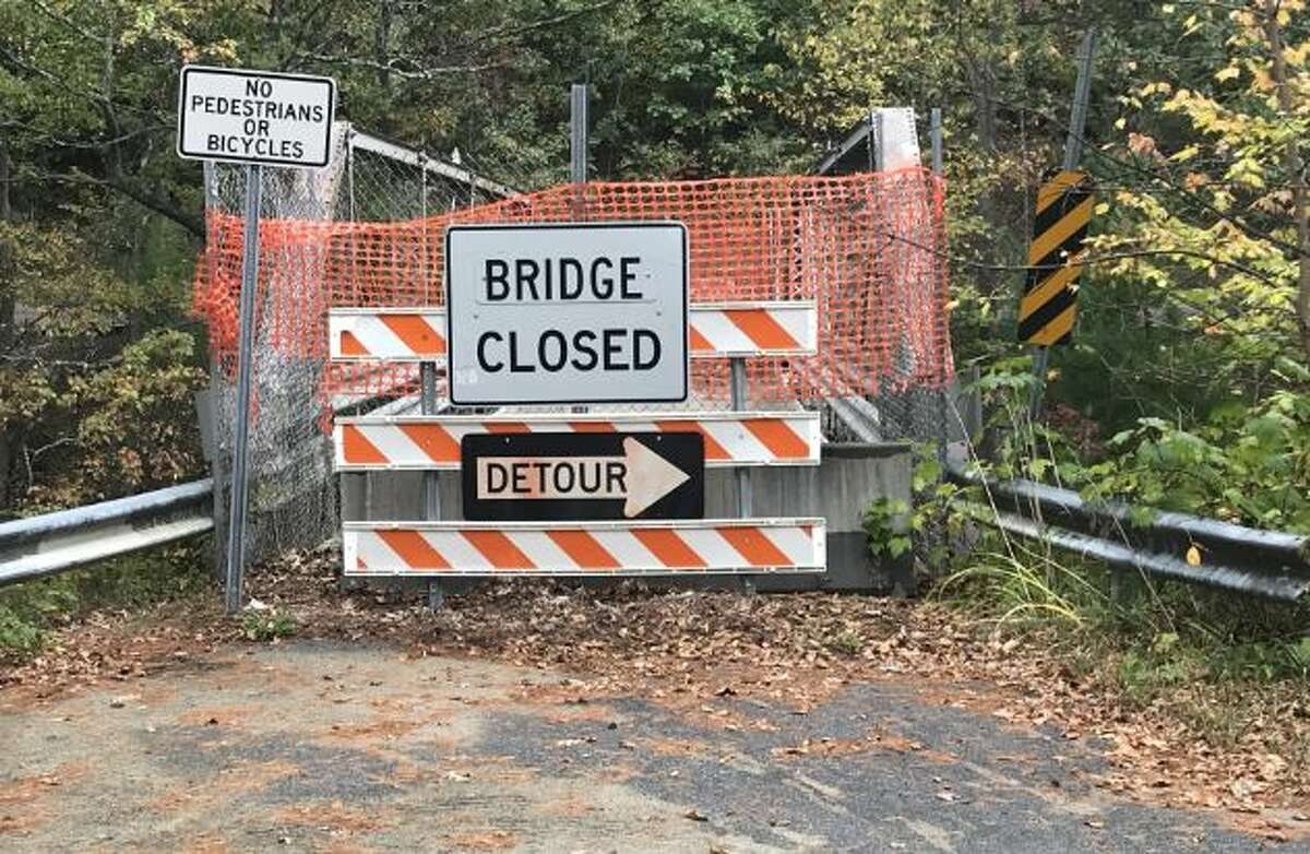 This closed bridge in Warren County could be replaced much faster if Proposal Three is passed, say local officials (Special to the Times Union/ Matt Simpson)