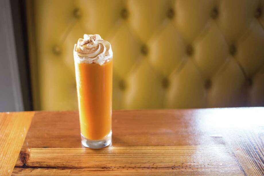Beaver's Westheimer is featuring a Pumpkin Frose made with pumpkin spice paste,spiced rum and dry Riesling. Photo: Becca Wright