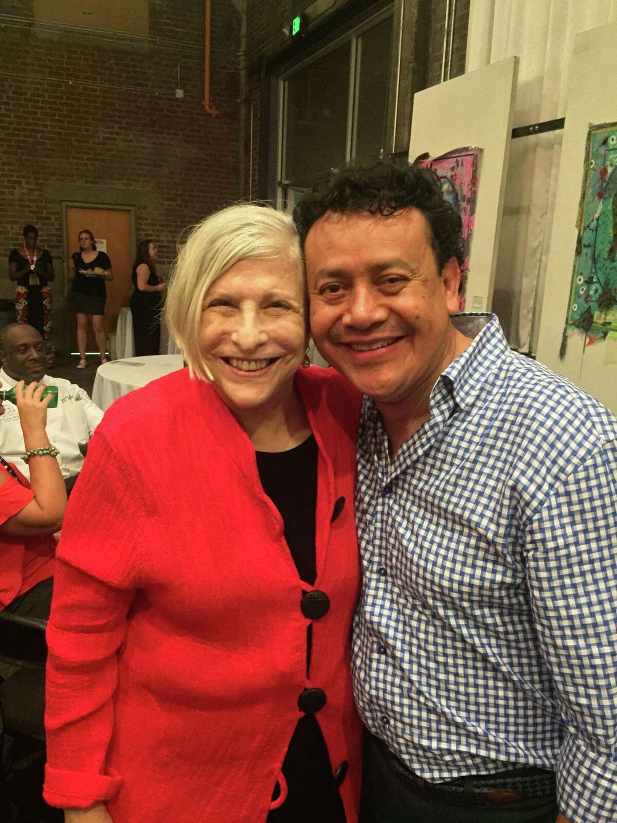 Cookbook author Nathalie Dupree and Hugo Ortega at the 2017 Southern Foodways Alliance symposium. The SFA presented Ortega with the 2017 Craig Claiborne Lifetime Achievement Award.