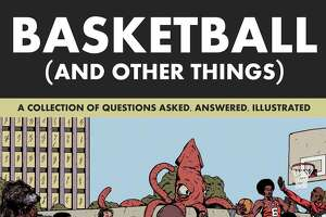 """Basketball (and Other Things): A Collection of Questions Asked, Answered, Illustrated"" (Abrams Image, $19.99) by San Antonio native Shea Serrano. The new book features art by Arturo Torres, the same illustrator behind Serrano's bestselling ""The Rap Year Book."""