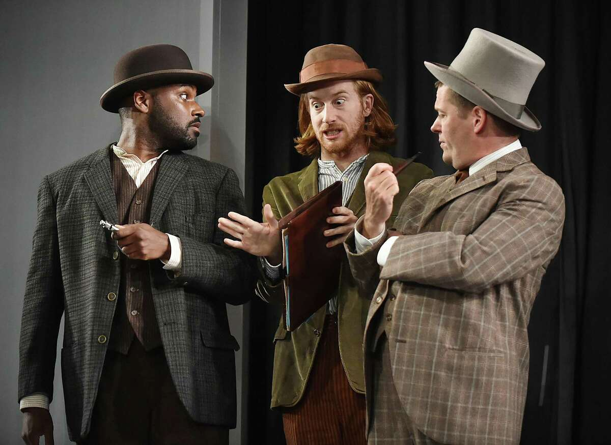 Arbedner Robinson, Ben Anderson as Billing and Greg Webster in a scene from the Henrik Ibsen play.