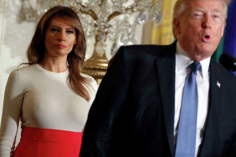 First lady Melania Trump is President Donald Trump's third wife. Photo: Evan Vucci, STF / Copyright 2017 The Associated Press. All rights reserved.