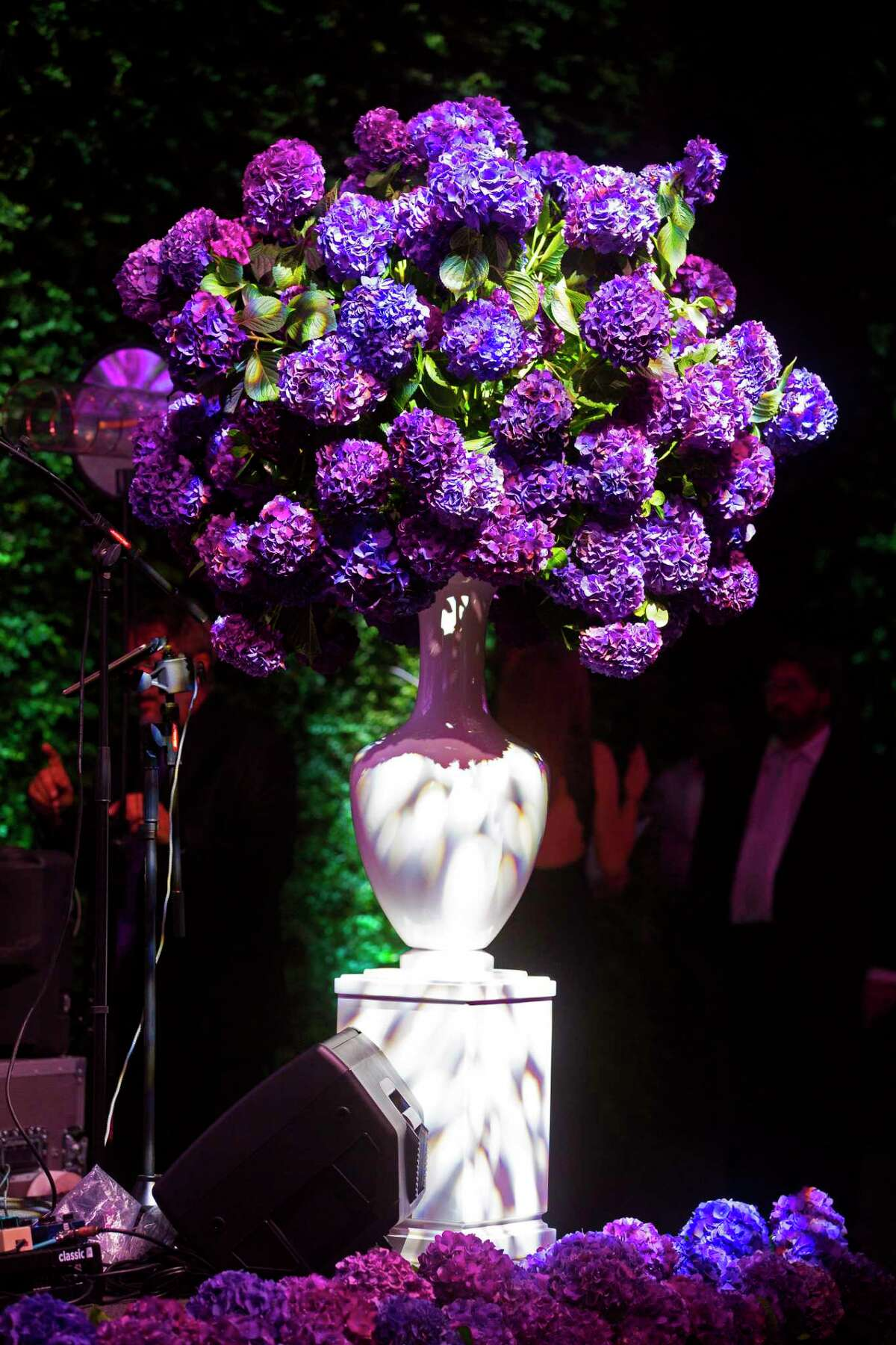 A vase of flowers during the Museum of Fine Arts Grand Gala Ball on Friday, October 6, 2017, in Houston. (Annie Mulligan / Freelance)