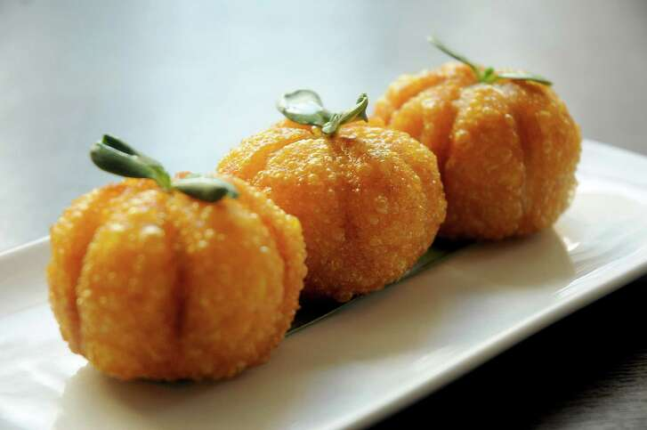 Outside its dim sum items, Yauatcha's roasted duck pumpkin puff is hard to beat.