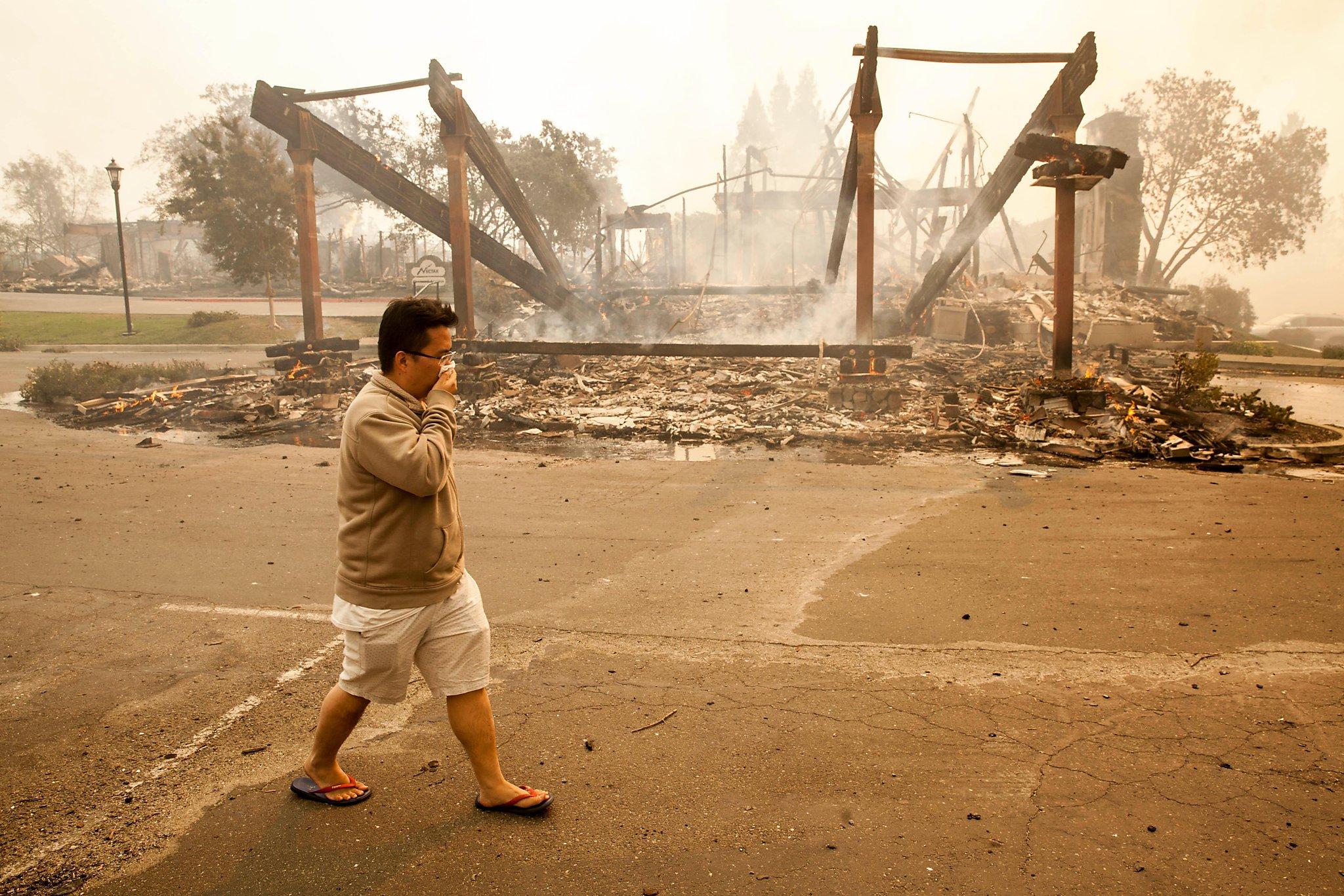 Fire destroys Napa winery, 2 Santa Rosa hotels - SFGate