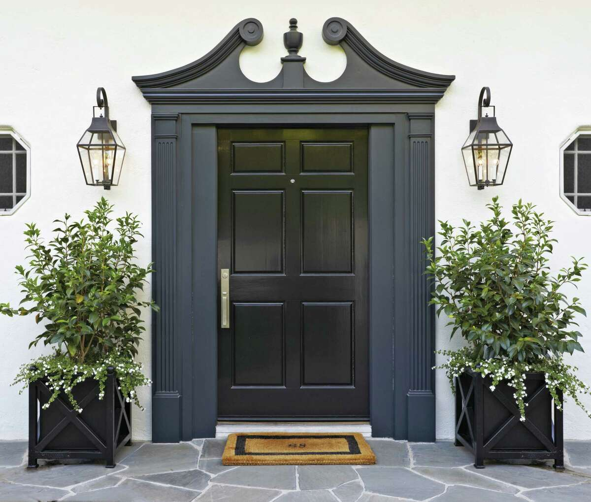 The front door of Molly Sims' Beverly Hills home.