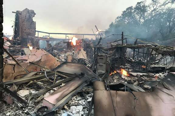 The Atlas fire destroyed the Signorello Estate, winery the Silverado Trail in Napa on Monday, October 9, 2017.