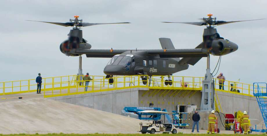 Ground testing of the Bell Helicopter V-280 Valor aircraft, with flight tests expected for the fall of 2017 for the U.S. Department of Defense Future Vertical Lift program. Textron subsidiary Bell is competing in the FVL program against the SB-1 proposed by a consortium of Sikorsky Aircraft and parent Lockheed Martin alongside Boeing. (Photo courtesy Bell Helicopter)