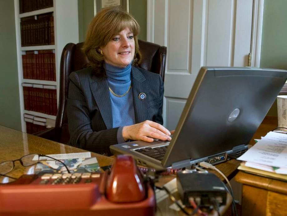 Attorney Deborah Grover in her office at 42 Main St. in Danbury. Photo: Scott Mullin / The News-Times