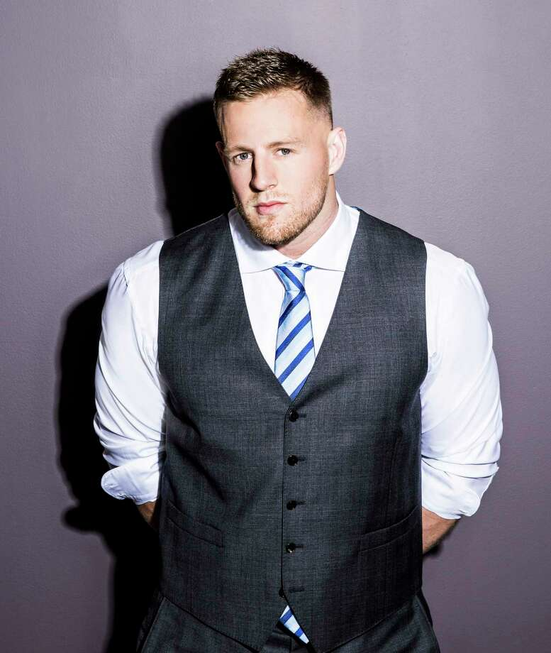 Houston Texans player J.J. Watt became Houston's hero during Hurricane Harvey raising more than $37 million for recovery efforts. He also showed off his style for the Chronicle's Luxe Life magazine.  Photo: Julie Soefer, For The Houston Chronicle