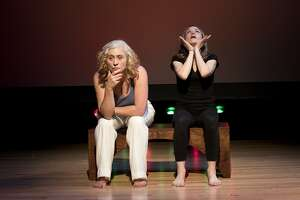 "Deb�rah Eliezer, left, and Michelle Haner in foolsFURY's ""Role Call."""