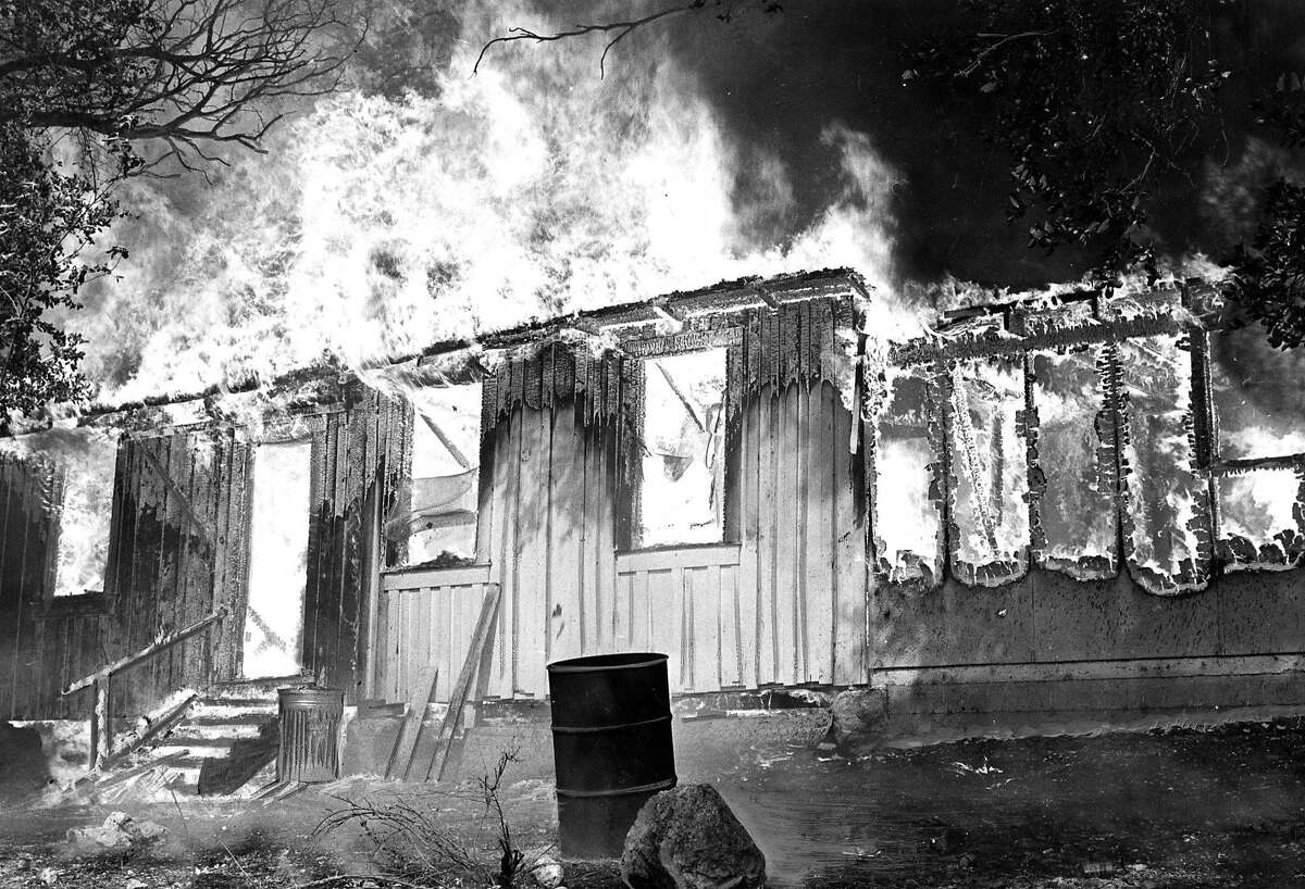 The Hanly fire September 1964 A bunk house east of Calistoga is almost completely engulfed , September 21, 1964 ran 09/22/1964, p. 12