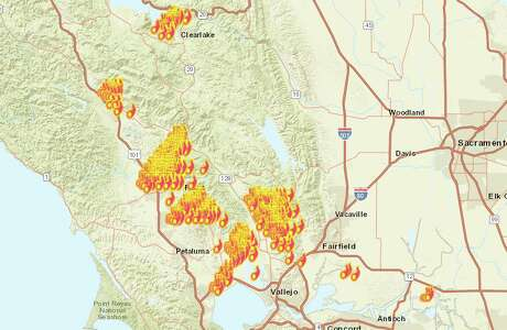 Fires raged across Northern California as firefighters battled back the Wine Country fires Monday night. Check the Chronicle's map for live updates. Photo: San Francisco Chronicle