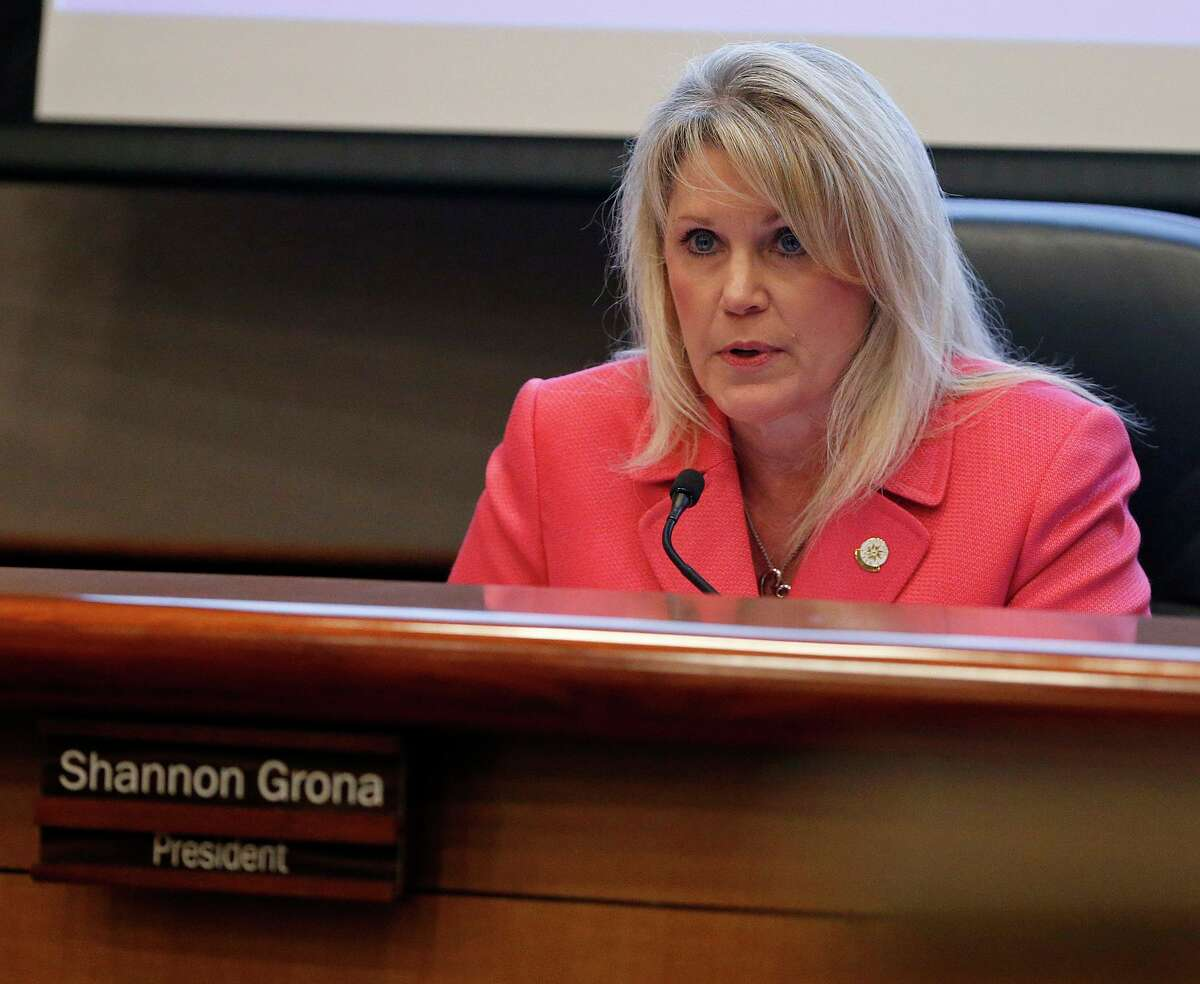 North East ISD board president Shannon Grona, shown in 2017, is seeking a third term on the board.