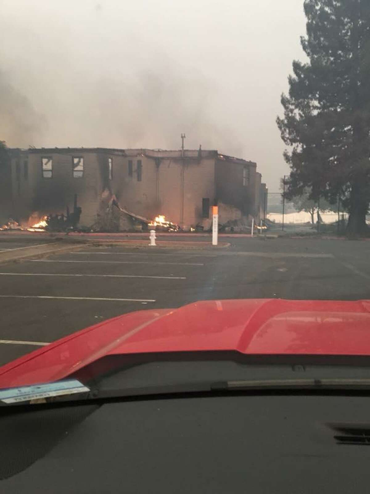 A look at the still-smoldering Anova Center for Education, which school officials said will leave 120 autistic students without a school to attend.