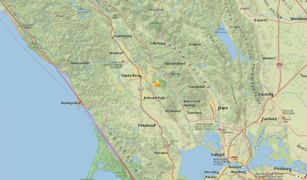 a 2 9 magnitude quake struck kenwood calif at about 7 16 p m monday