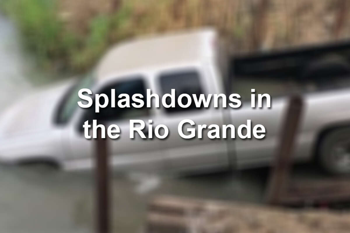 Keep clicking through this gallery to see photos of splashdowns - where alleged smugglers attempt to evade police by driving into the Rio Grande.