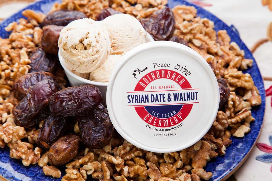 Adirondack Creamery, an ice cream maker originally based in Lake George, is selling a new flavor inspired by a popular Syrian pastry called ma'amoul to raise money for refugees. Photo: Photo Credit / Jeffrey Lee