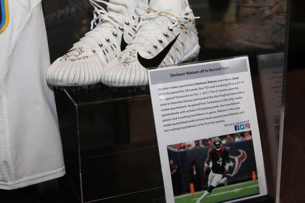 942b11f80d35 1of54The Pro Football Hall of Fame has a display for the Texans  Deshaun  Watson after his performance Sunday night against the Titans.
