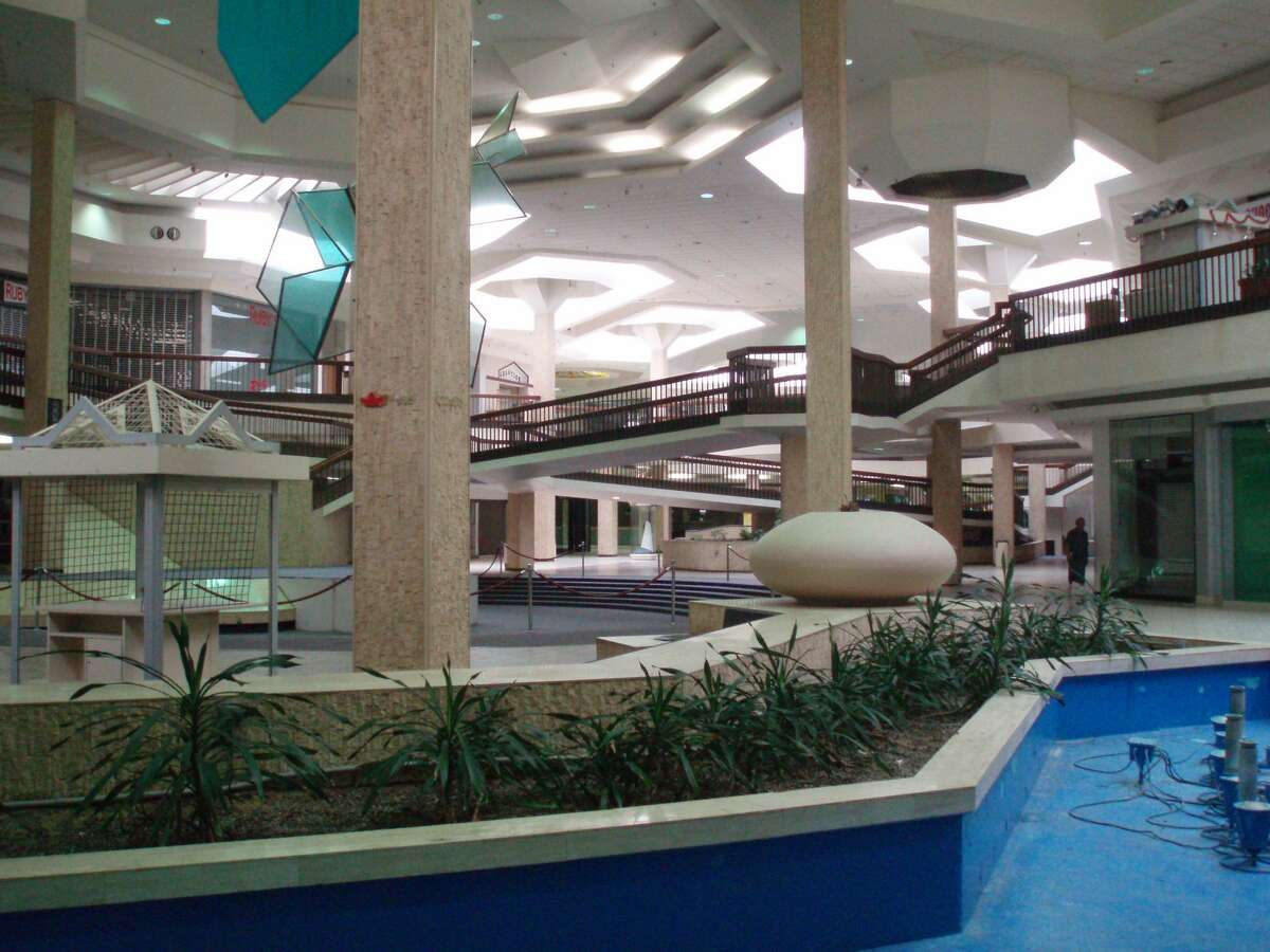 FILE - The interior of the now-destroyed Randall Park Mall in North Randall, Ohio on June 24, 2008. Tech giant Amazon purchased the property and is planning to construct a distribution warehouse.