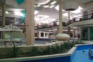 The interior of the mostly-empty Randall Park Mall in North Randall, Ohio.