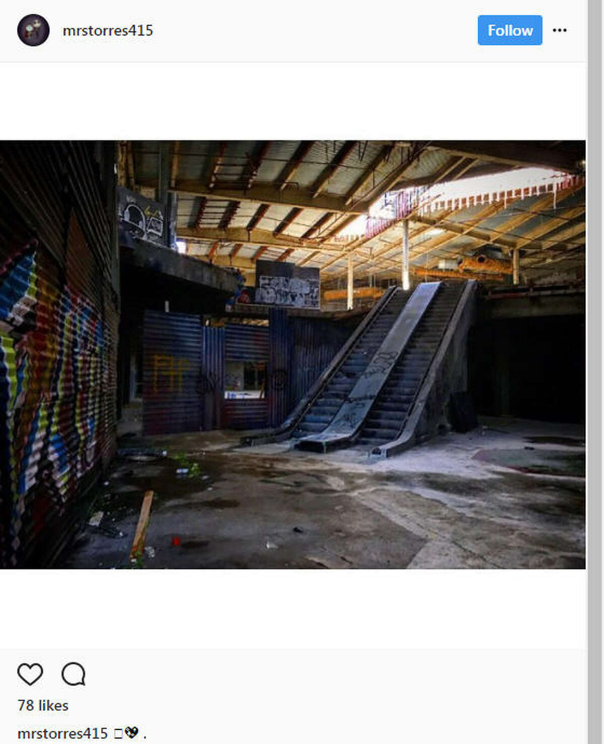 As online shopping continues to grow, some malls are becoming ghost towns and surreal for those who explore them.Image source: Instagram