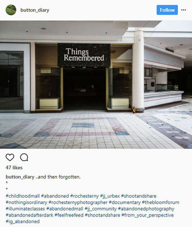 As online shopping continues to grow, some malls are becoming ghost towns and surreal for those who explore them.Image source: Instagram Photo: Instagram