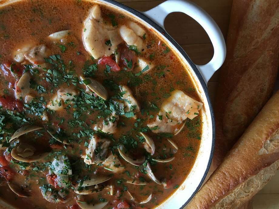 "Chippine, an early iteration of the now classic San Franciscan dish cioppino, is one of the recipes featured in ""The Refugees' Cook Book,"" published following the 1906 earthquake and fire in S.F. Photo: Sarah Fritsche"